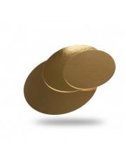 PODKŁAD pod TORT okrągły złoty 24 CM  / 25 sztuk