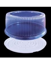 POJEMNIKI okrągły 28 cm na tort PLASTIKOWY 10 sztuk